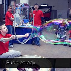 BUBBLEOLOGY explores the secret world of bubbles with state of the art soap bubble sculptures—some bigger than bathtubs, others are fog-filled spinning geometric shapes! Read More : www.BuddyDaddy.com