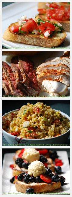 Thrilling Grilling Menu with 4 Recipes!   The Party Bluprints Blog #plantoparty #grilling #bbq