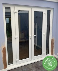 Liniar French Door Set. Westcliff-on-Sea Essex Upvc Windows, Sash Windows, Windows And Doors, External Cladding, Window Glazing, Window Replacement, Composite Door, Door Sets, Exterior Trim