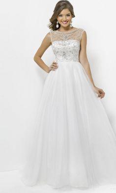 Chiffon A-line Scoop Long Formal Dresses FSAU1409P801014 - formalsydney.com