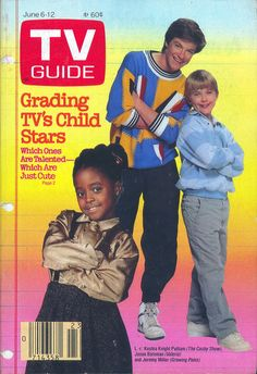 Keshia Knight Pulliam (Cosby Show), Jason Bateman (Valerie) and Jeremy Miller (Growing Pains) on the cover of TV Guide - June 6, 1987
