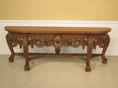 26463E: MAITLAND SMITH Large Leather Top Rococo Carved Sideboard by StenellaAntiques on Etsy