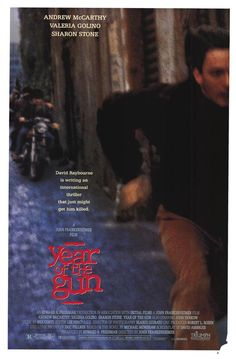 Year of the Gun , starring Andrew McCarthy, Sharon Stone, Valeria Golino, John Pankow. David Raybourne is an American journalist covering political news in Italy during the 1970's. He is... #Action #Romance #Thriller