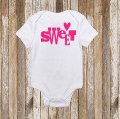 Sweet Baby Onesie Toddler Shirt Vinyl by CountryHeartDesignz