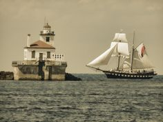 """""""Sails and the lighthouse 2"""" by Donald Cole, via 500px."""
