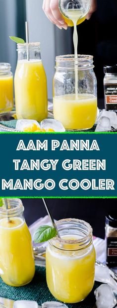 Summers are incomplete without this tangy sweet raw mango cooler. Such an easy to make drink! Aam panna (Chhichha in Punjabi) is. Dairy Free Recipes, Vegetarian Recipes, Healthy Recipes, Drink Recipes, Easy Recipes, Green Chutney, How To Make Drinks, Summer Recipes, Mango Recipes