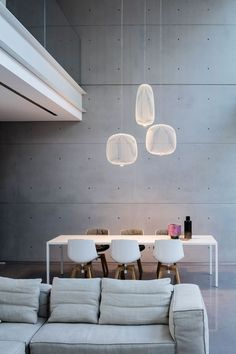 'Minimal Interior Design Inspiration' is a weekly showcase of some of the most perfectly minimal interior design examples that we've found around the web - all Interior Lighting, Home Lighting, Lighting Design, Lighting Ideas, Modern Lighting, Garage Lighting, Interior Design Examples, Interior Design Inspiration, Design Ideas