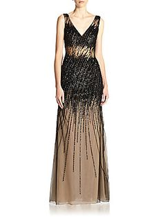 Basix Black Label Beaded Gown