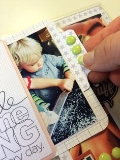 I love this idea for a tab on a picture - Project Life By Louise Havlykke.