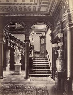 Grand Aesthetic interior!  DO MIlls residence SF CA 1880's by gaswizard, via Flickr
