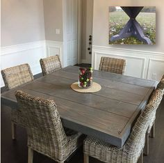 Farm House Table Pedestal Table Dine Table Square Dining