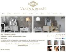 Professional interior design web design for Vixen and Blush