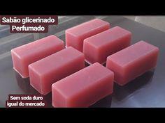 Faça sabão glicerinado Perfumado sem soda duro igual do mercado. - YouTube Marie Kondo, Beauty Secrets, Aloe, Soap, Fruit, Youtube, Homemade Washing Detergent, Homemade Soap Bars, Home Made Soap