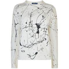 Polo Ralph Lauren Tyra Crew Neck Sweatshirt ($72) ❤ liked on Polyvore featuring tops, hoodies, sweatshirts, nevis, cotton sweatshirts, crew-neck tops, crew neck sweatshirts, long sleeve cotton tops and patterned sweatshirt