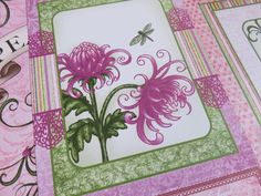 Lots of pink and flowers in this pretty Heartfelt Creations Paper pad. DIY handmade cards and mini albums.
