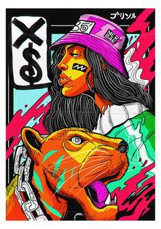 Illustration for Adobe Live. on Illustration for Adobe Live. on Inspirationde - Art Sketches, Art Drawings, Character Art, Character Design, Grafic Art, Arte Hip Hop, Exhibition Poster, Psychedelic Art, Art Sketchbook