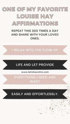 Louise Hay Affirmations, Daily Affirmations, Work Life Quotes, Self Esteem, Book Recommendations, New Moms, Great Quotes, Self Help, Self Love
