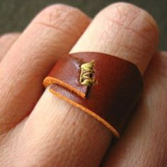 ,  stitched leather ring