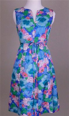 Vintage 1960s Floral Quilted Sundress Size by lookimpretty on Etsy, $65.00