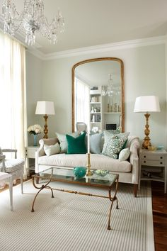 #styletip: place an extra-large mirror behind your sofa to create the illusion of more space!