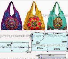 Ideas para el hogar: Bolsos costuras moldes gratis