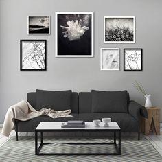 Framed Monochrome Gallery Wall - 6 Framed prints, White and black frames by Natascha van Niekerk Fine Art Photography Minimalist Bedroom, Minimalist Decor, Modern Bedroom, Living Room Decor, Living Spaces, Bedroom Decor, Van Niekerk, Custom Wallpaper, Decorating Your Home