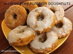 Pumpkin Donuts Made Allergy Friendly | Allergy Free Test Kitchen gluten free, dairy free, vegan, egg free