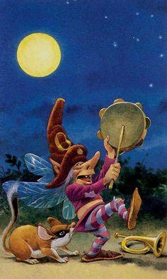 FO- 0 - Il Folletto - The Elf - Der Kobold (Tarot Card)
