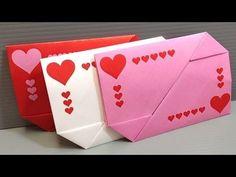 DIY - Easy origami envelope tutorial - YouTube