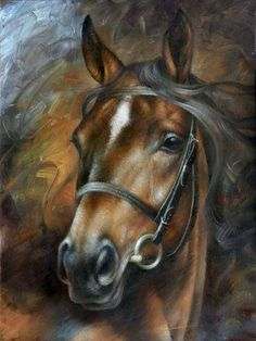 2019 New Hot Sale Full Square Diamond Horse Painting Cross Stitch Kits UK Horse Drawings, Animal Drawings, Art Drawings, Horse Head Drawing, Painted Horses, Cross Paintings, Animal Paintings, Horse Pictures, Art Pictures