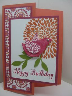 Another Betsy's Blossom card-preview of birthday class in August