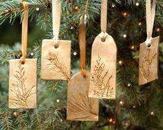 Keramischen Ornament mit natürlichen Eindruck von JewelryByMondaen