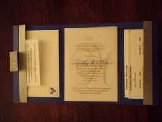 Trifold Wedding Invitation #2 Inside by Kelly Mervine - Cards and Paper Crafts at Splitcoaststampers