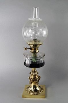 Lampen1 keroseneoilcarbide lamp pinterest oil lamps a victorian brass oil lamp with cylindrical faceted lot 1040 aloadofball Choice Image
