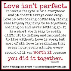 Love isn't perfect
