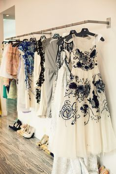 Can I live in Designer Lela Rose's studio? That dress in the front... yum
