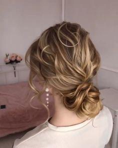 wedding braid bride weddinghair hair hairstyle we Formal Hairstyles, Bride Hairstyles, Cool Hairstyles, Simple Elegant Hairstyles, Hairstyles Videos, Bridesmaid Hair, Prom Hair, Wedding Braids, Hairstyle Wedding