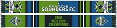 SEATTLE SOUNDERS 2016 MLS CUP CHAMPIONS SCARF - Bars **Pre-order** from Ruffneck Scarves