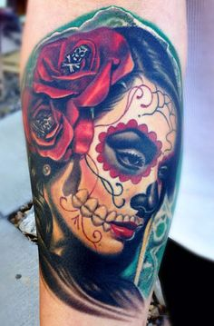 Tattoo Artist - Nikko Hurtado Day of the dead tattoo