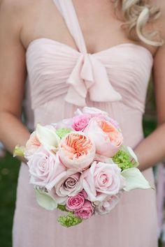 Blush-Colored Bridesmaid Bouquet