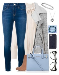 """""""Fashion AF"""" by a-good-old-southern-belle ❤ liked on Polyvore featuring Chloé, Glamorous, Frame Denim, River Island, Kurt Geiger, Tory Burch, Pandora, women's clothing, women and female"""