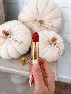 """Gucci red lipstick 505 """"Janet Rust"""" #fall #makeup #laurabeverlin #LTKunder50 #LTKsalealert #LTKbeauty All Things Beauty, Red Lipsticks, Makeup, Make Up, Beauty Makeup, Bronzer Makeup"""