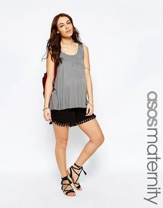 ASOS Maternity Jersey Short with Tassels