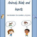 ************* Now revised and enhanced ************ These worksheets are tailored for Grade 1 , 2 and Kindergarten kids. It's a set of 22 worksheet...