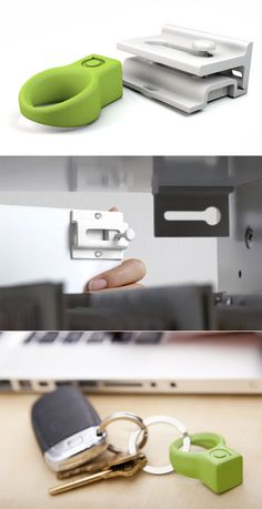 magnetic latch (invisible drawer lock)    http://www.core77.com/blog/object_culture/simple_invisible_and_attractive_drawer_locking_system_21700.asp