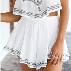 Tribal Print Two-Piece Featuring St..