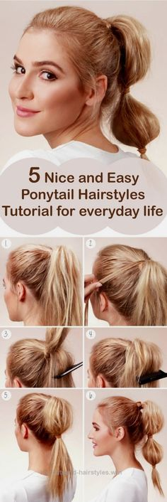 Terrific Looking for some nice and easy ponytail hairstyles idea? We are here with five nice and easy ponytail hairstyles. Ponytails are casual but if designed properly, ..