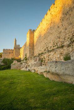 Golden glow - walls of Old City in #Jerusalem, #Israel.