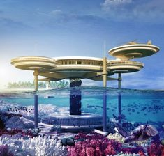 The Water Discus Underwater Hotel | Would you stay in an hotel submerged below sea level? The architectural innovators over at Deep Ocean Technology have a conceptual design that is set to change the hotel industry and the vacationing experience in the Middle East. The Water Discus Underwater Hotel is designed as a modern and aquatic alternative to the mundane hotels found on land.
