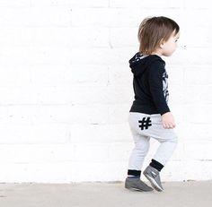 0398ce7623836 Baby Pants - Toddler Pants - Grey Hashtag Harem Pants - Baby Leggings - Baby  Joggers - Baby Clothing - Toddler Leggings - Toddler Boy